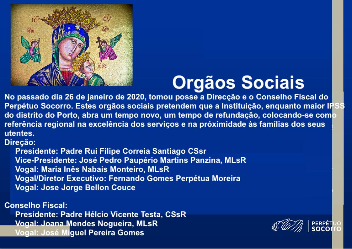 Orgãos Sociais 2020-2024
